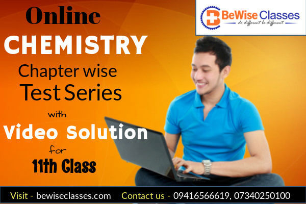 Chemistry Chapterwise test series with Video Solution for 11th Class for NEET/AIIMS cover