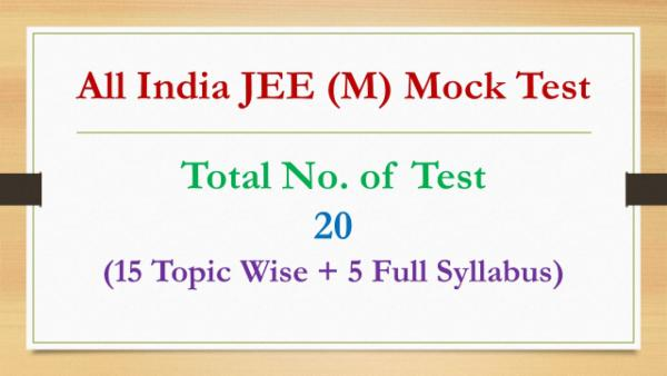 All India JEE (M) Mock Test - 20 cover