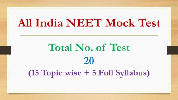 All India NEET Mock Test - 20 cover