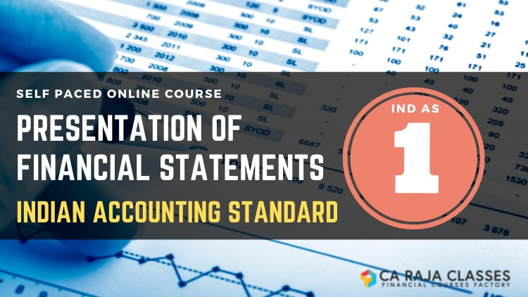 Online Course on Ind AS 1 Presentation of Financial Statements cover