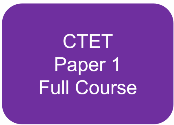 CTET - Paper 1 (CDP + English + Maths + Hindi + EVS) Full Course cover