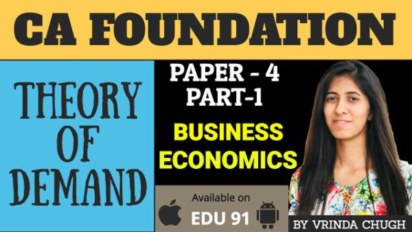 Theory of Demand | CA Foundation Business Economics cover