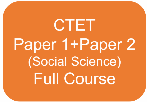 CTET - Paper 1 + Paper 2 (Social Science) Full Course cover