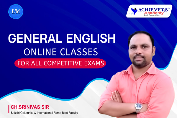 General English Online Classes for Competitive Exams cover