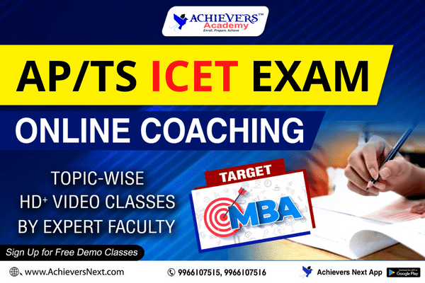 AP/TS ICET ONLINE COACHING 2020 cover
