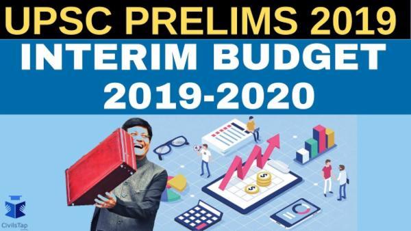 Union Interim Budget 2019-2020 cover