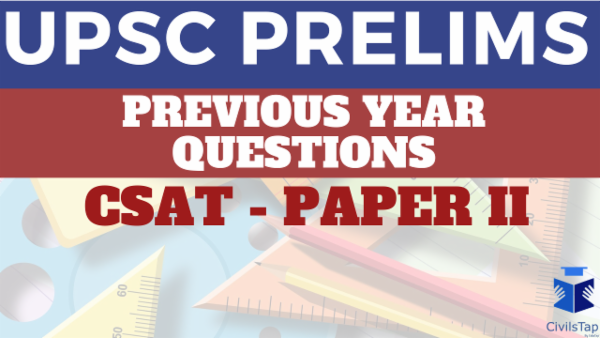 Previous Year UPSC CSAT Questions cover