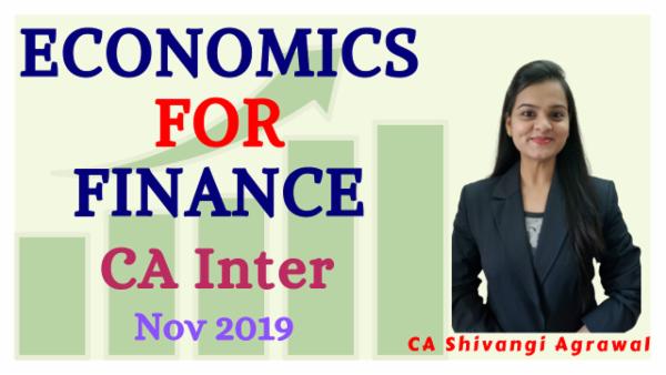 Economics for Finance for Nov 2019 | CA Inter cover