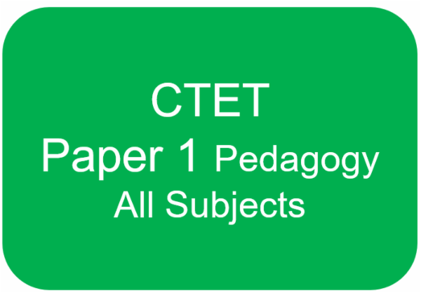 CTET PAPER 1 (PEDAGOGY FOR ENGLISH+HINDI+EVS+MATHS+CDP) cover