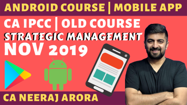 Strategic Management for CA IPCC | November 2019 | Old Course cover
