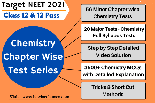 Chemistry NEET Online Test Series (Chapter Wise) - 3500+ Chemistry MCQs with Detailed Video Solution cover