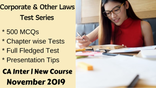 Corporate & Other Laws Test Series for November 2019 | CA Inter cover