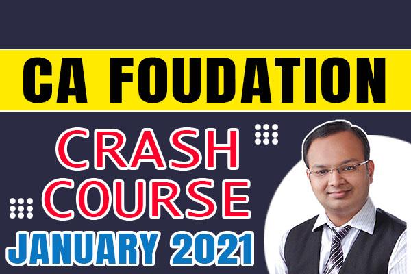 CA Foundation Crash Course : January 2021 cover