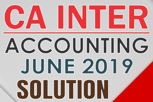 CA Inter Paper solution June 2019 cover