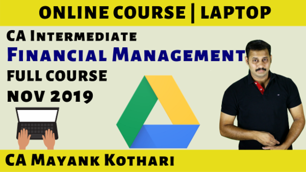 CA Inter Financial Management Online Course for Nov 2019 cover
