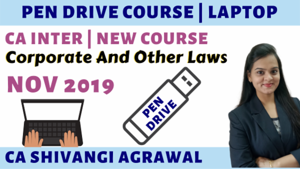CA Inter Corporate & Other Laws PenDrive Course for Nov 2019 cover