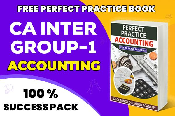Accounting: CA Inter cover