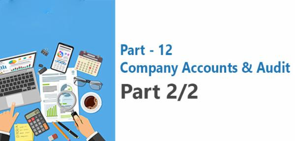 Paper 12 Company Accounts & Audit ( PART- 2/2) cover