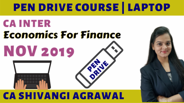 CA Inter Economics for Finance Pen Drive Course for Nov 2019 cover