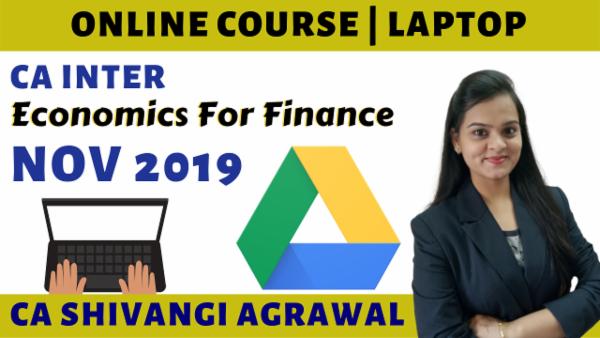 CA Inter Economics for Finance Online Course for Nov 2019 cover