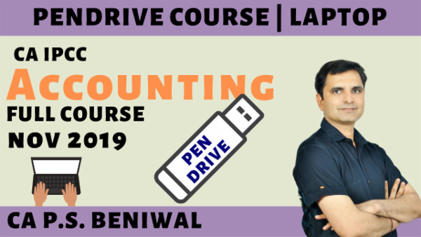 CA IPCC Accounting Pen Drive Course for Nov 2019 cover