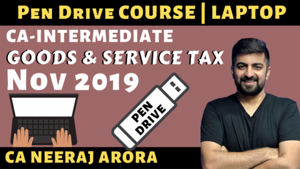 CA IPCC/Inter GST Pen Drive Course for Nov 2019 cover