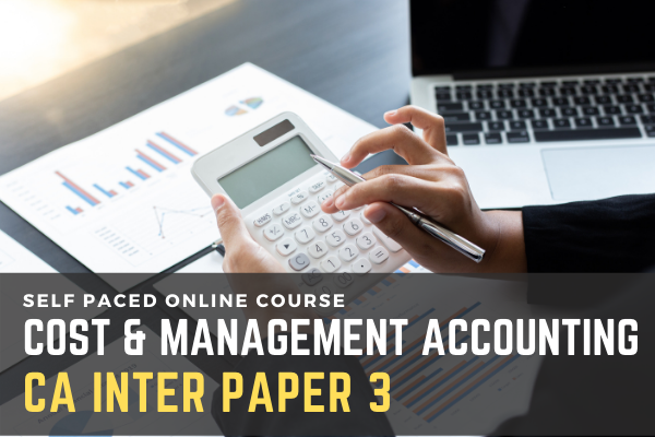 PAPER - 3 Cost Accounting and Management Accounting cover