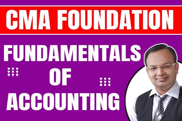 CMA Foundation : Fundamentals of Accounting cover