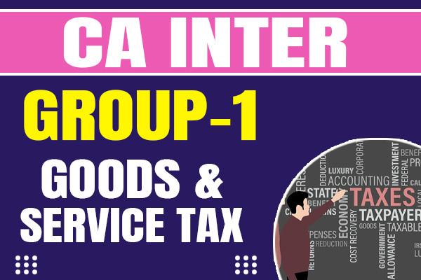 GST : CA Inter cover