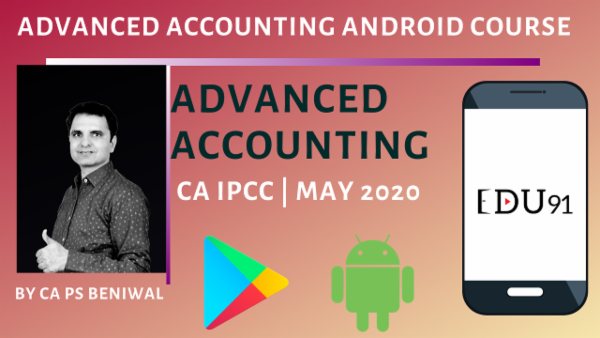 CA IPCC Advanced Accounting May 2020   Mobile App cover