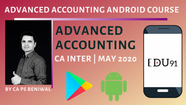 CA Inter Advanced Accounting May 2020   Mobile App cover