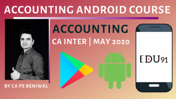 CA Inter Accounting May 2020 | Mobile App cover