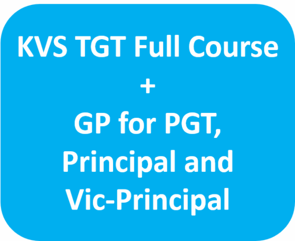 KVS TGT Full Course and GP for PGT, Principal and Vice Principal cover