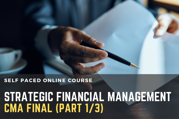 CMA FINAL PAPER 14 Strategic Financial Management 1 / 2 cover