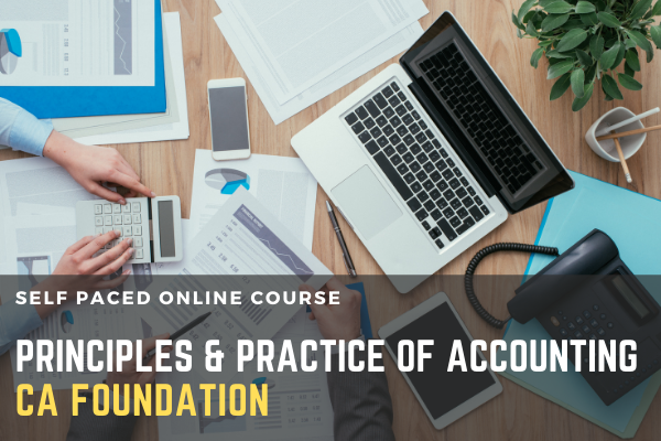 CA FOUNDATION PAPER 1 - PRINCIPLES AND PRACTICE OF ACCOUNTING cover