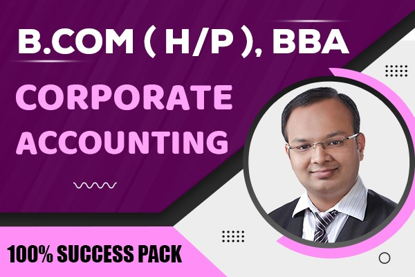 Corporate Accounting : B.com (H/P), BBA cover