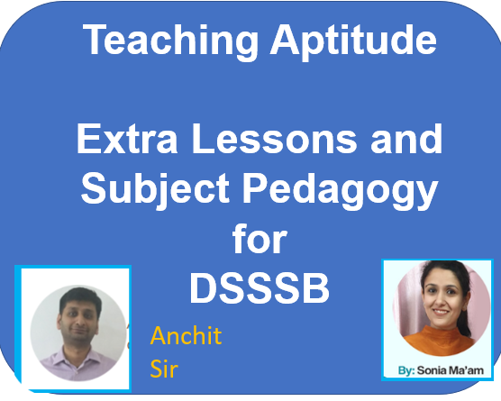 Teaching Aptitude Extra Lessons and Subject Pedagogy cover