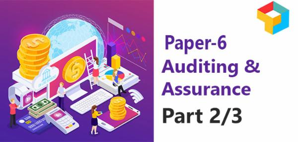 Paper - 6 : Auditing and Assurance (Part 2/3) cover