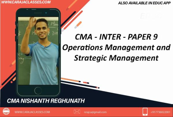 PAPER 9 : Operations Management and Strategic Management cover
