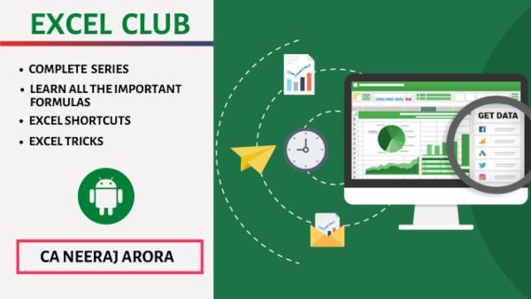 Excel Club by Neeraj Arora cover
