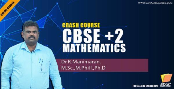 CBSE Plus Two Mathematics : Crash Course (Part 1) cover