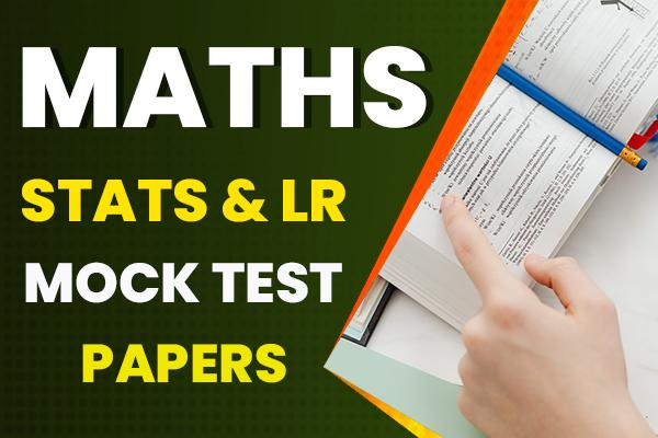 Mock test papers : Maths Stats LR cover