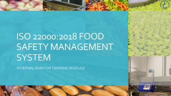 ISO 22000:2018 - Internal Auditor Course cover
