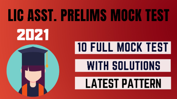 LIC Assistant Prelims Mock Test cover