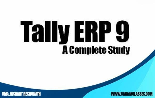 Tally ERP 9 A Complete Study cover
