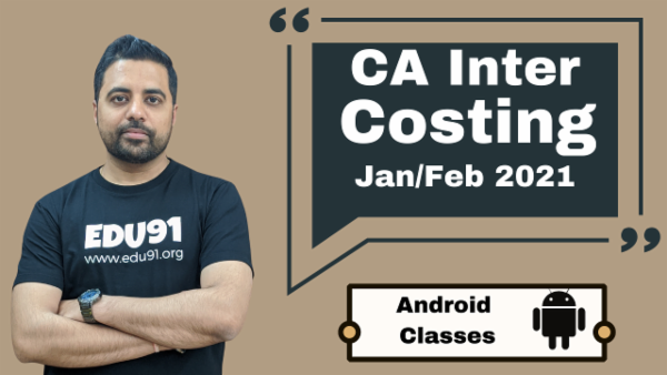 CA Intermediate Cost and Management Accounting Classes - Android App - Nov 2020 cover