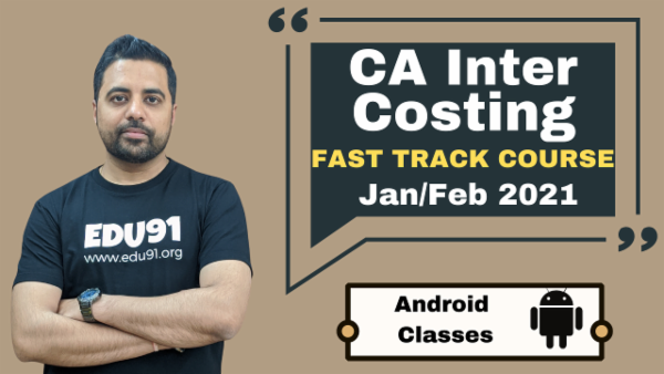 CA Inter Cost and Management Accounting Fast Track Classes - Android App - Nov 2020 cover
