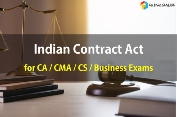 Indian Contract Act for CA / CMA / CS / Business Exams cover