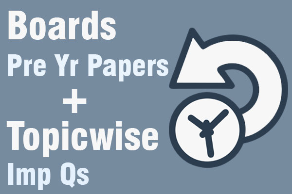 Boards Previous Year Papers & Topicwise Important Questions cover