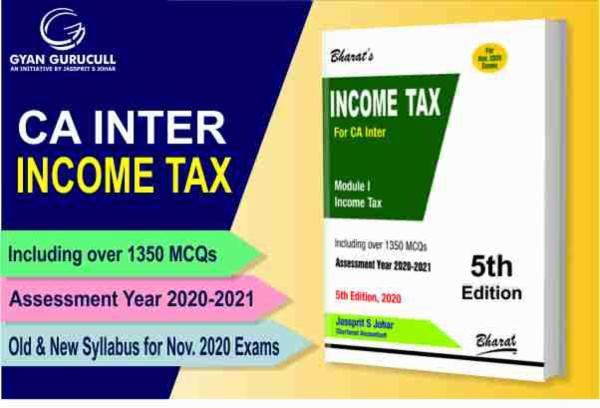 Taxation (Income Tax Book) CA Inter New & Old Syllabus By Jassprit S Johar cover